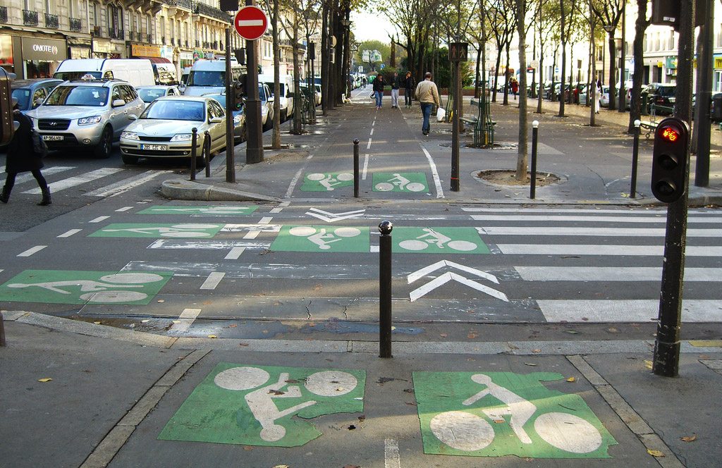 Paris bicycle intersection
