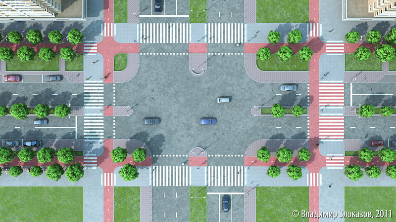 Improved intersection