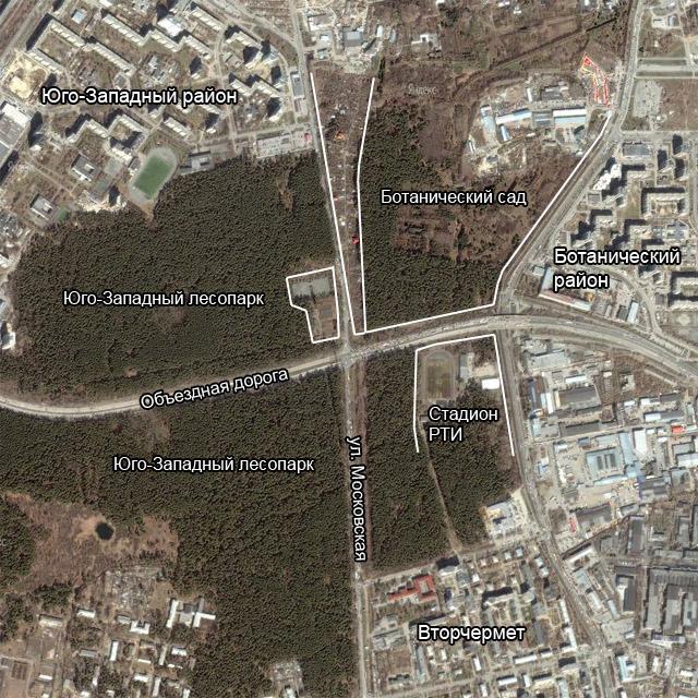 Московская-Объездная. Ситуационный план