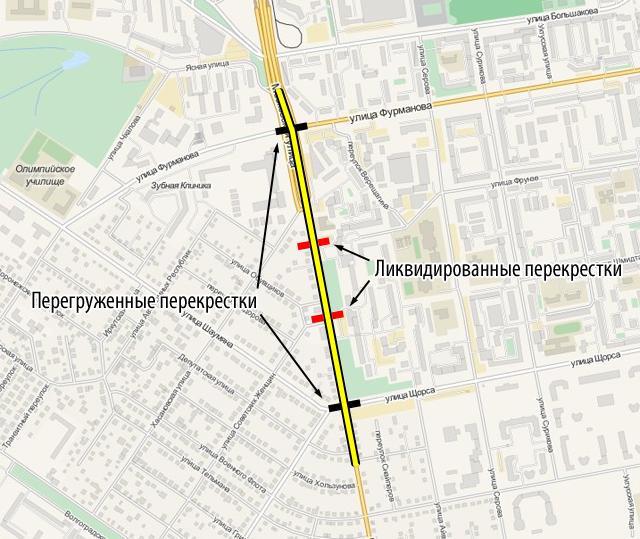 Увеличенные кварталы на Московской