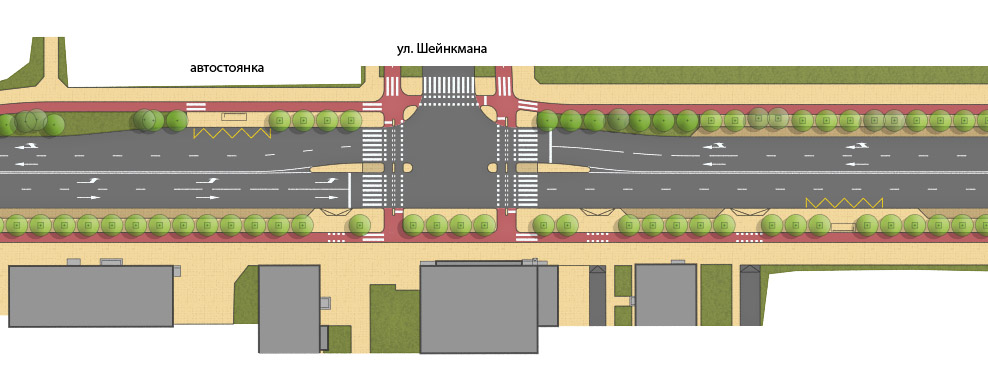Конфигурация автобусных остановок