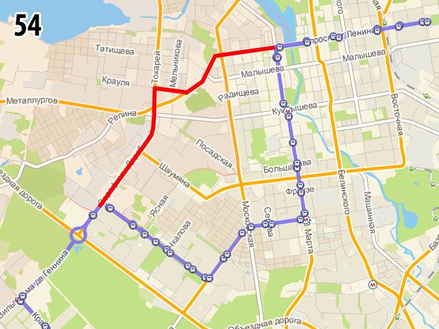 Новый вариант 54 маршрута