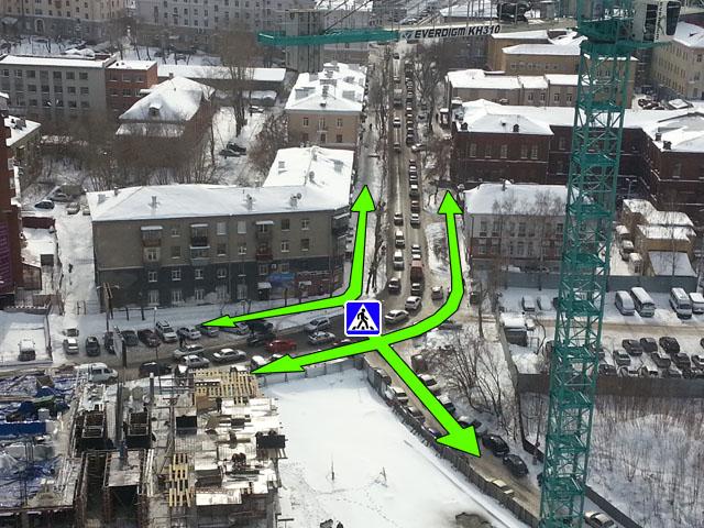 Улучшенная схема движения пешеходов