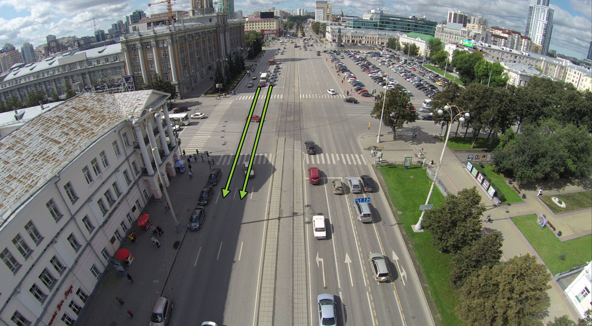 Проспект Ленина, перекресток Ленина-8 Марта