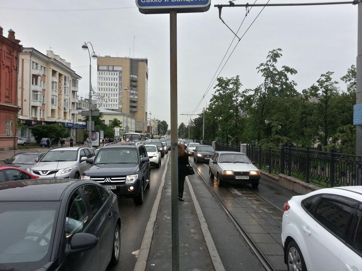 """Проспект Ленина - остановка """"Сакко и Ванцетти"""""""