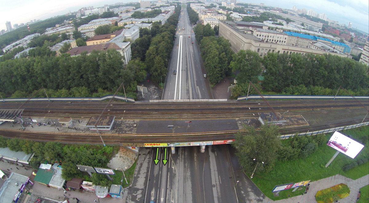 Проспект Ленина в сторону УПИ