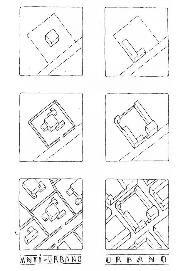Городская и антигородская застройка. Схема Леона Криера