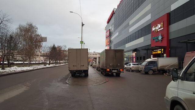 """Улица Посадская около ТРЦ """"Фан-фан"""""""