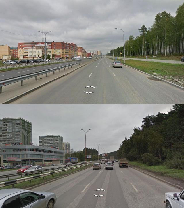 Улица Краснолесья и Объездная дорога