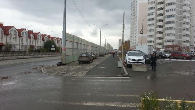 Шумозащитные экраны на улице Краснолесья
