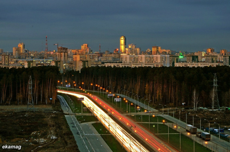 Yekaterinburg from the windows of Academicheski neighborhood. Image courtesy of: Vladimir Zadumin