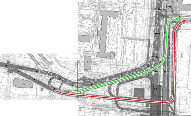 Проезд под мостом создает ситуацию нерегулируемого въезда в центр со стороны Гражданской