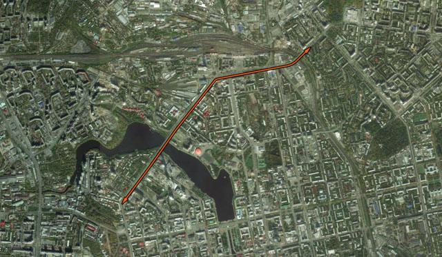 Перспективное продолжение велодорожек по обе стороны моста