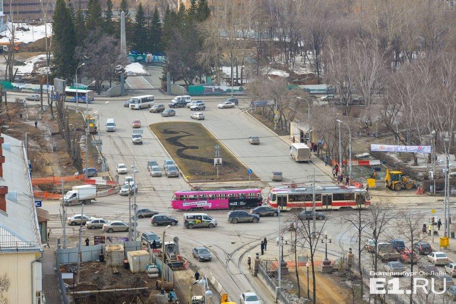 Перекресток Московская-Ленина. Фото: Е1