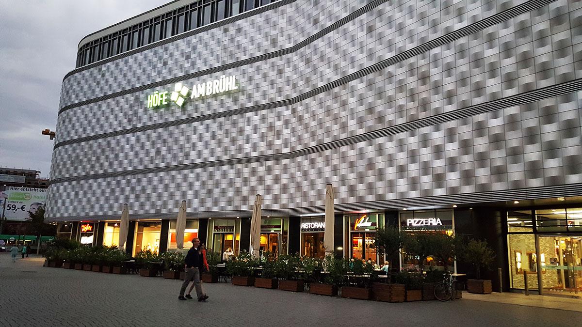 Торговый центр с активным первым этажом в Лейпциге