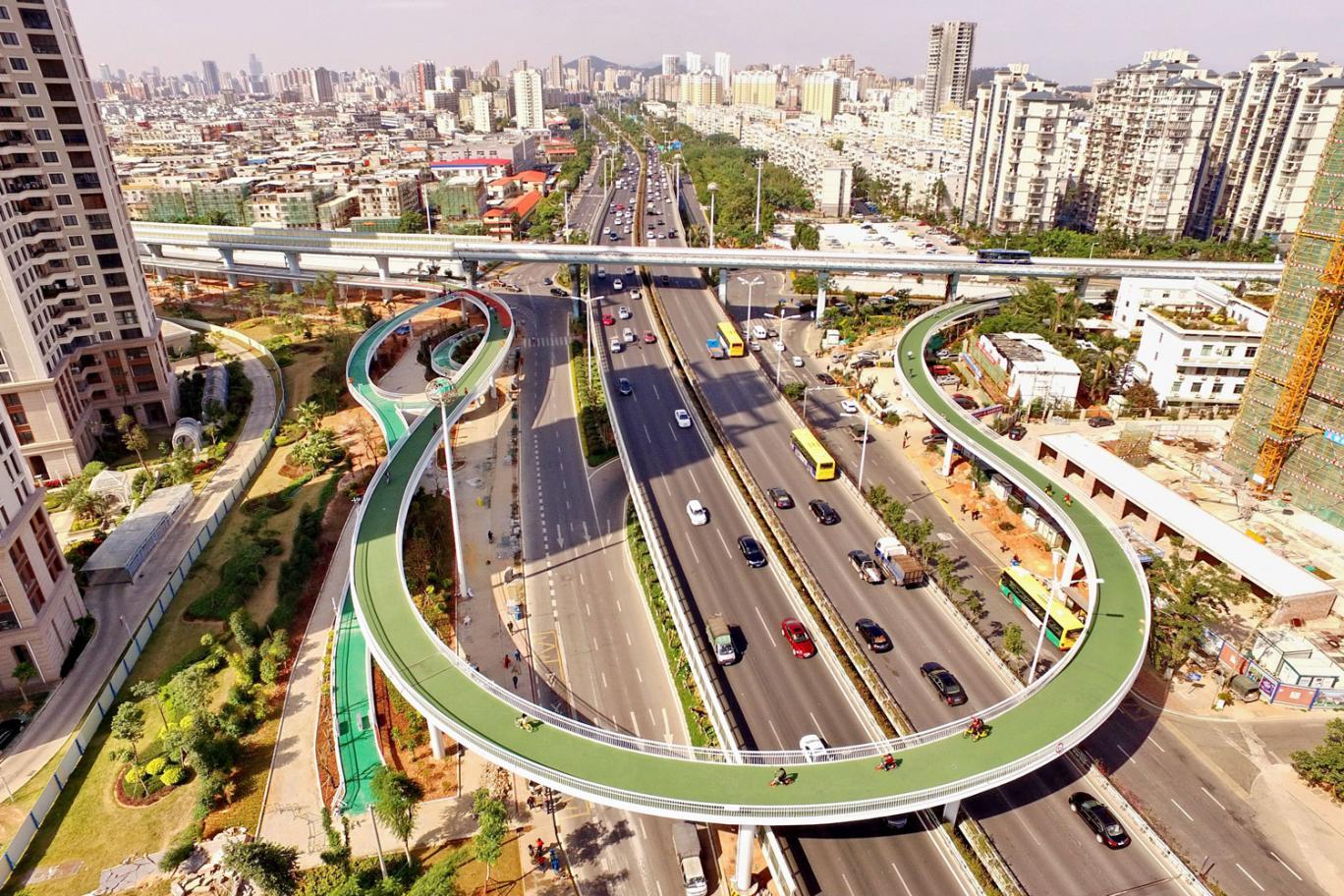 Велопешеходный мост в Китае