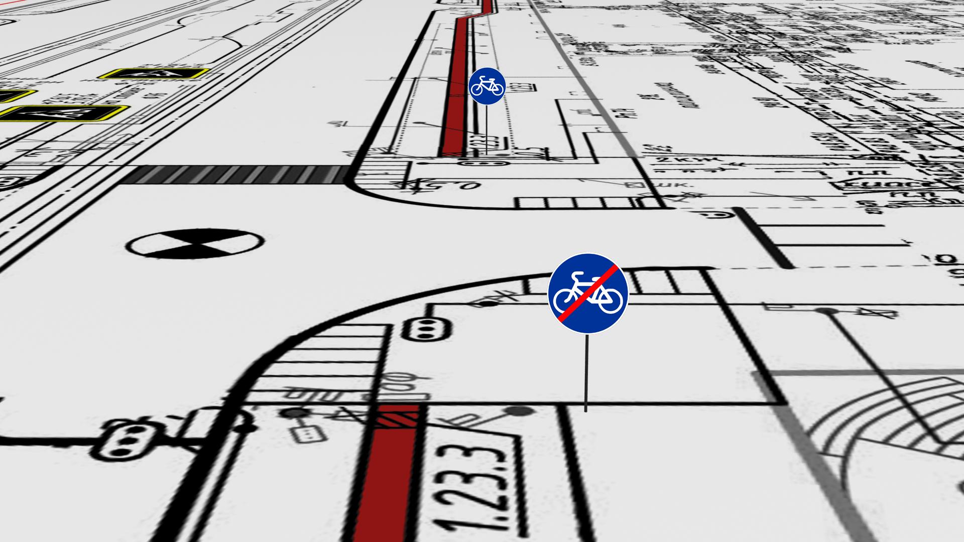 Велодорожки заканчиваются перед каждым перекрестком!