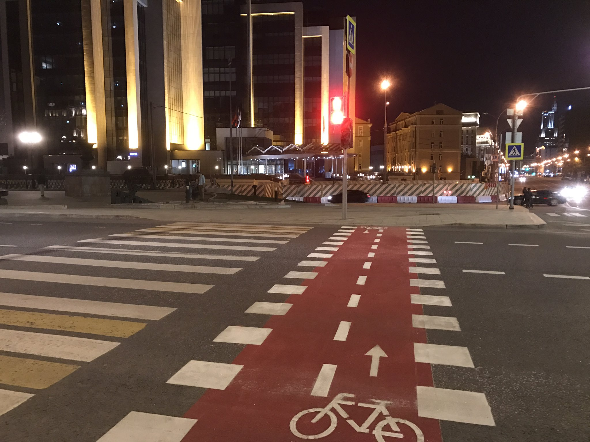 Велосипедное пересечение в Москве