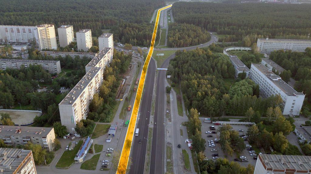 Трамвайная линия до Волгоградской может быть проложена сбоку от основной проезжей части улиц де Геннина и Серафимы Дерябиной.