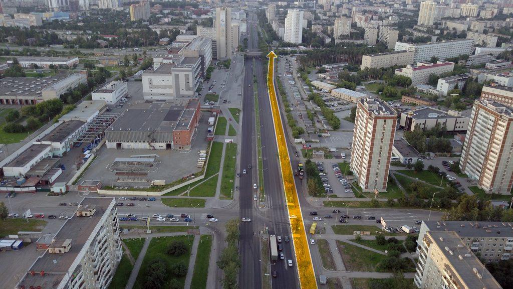 Соединение с трамвайной линией на Волгоградской не потребует сноса и выкупа гаражного массива, так как трамвайные пути можно проложить вместо существующей автомобильной дороги.