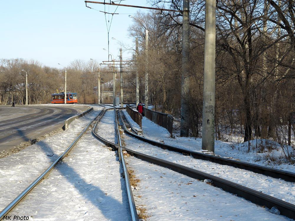 Пример сплетения трамвайных путей.