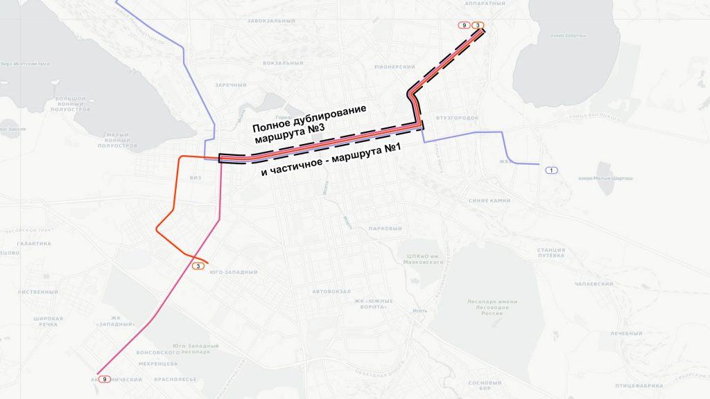 В центре маршрут из Академического будет полностью дублировать уже имеющиеся маршруты.