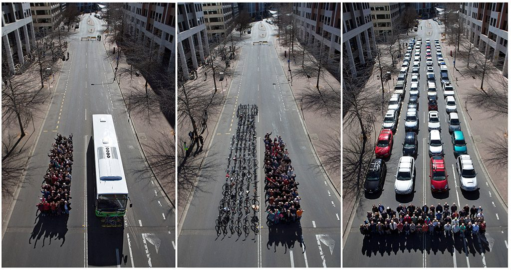 Сколько нужно места, чтобы перевезти 100 человек