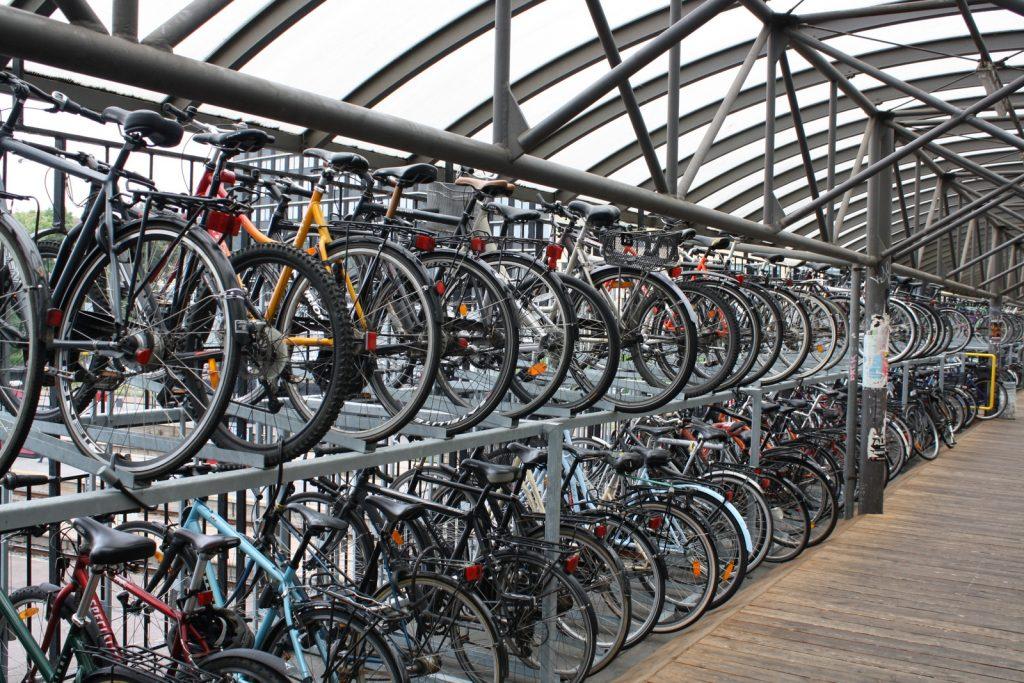 Велопарковка в здании