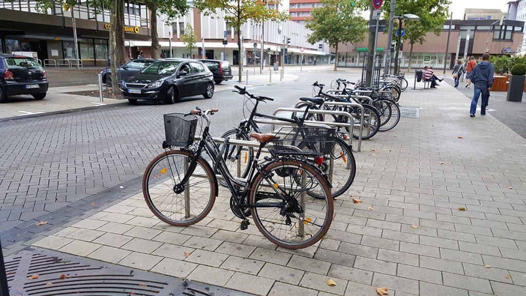Уличные велопарковки
