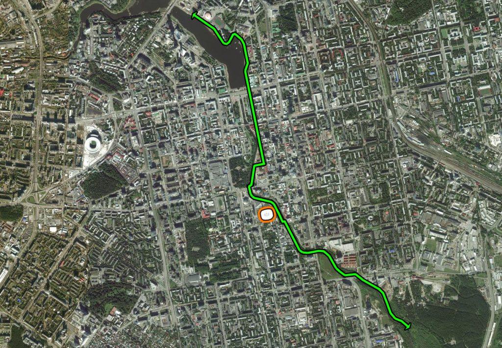 Велопешеходный маршрут вдоль Исети
