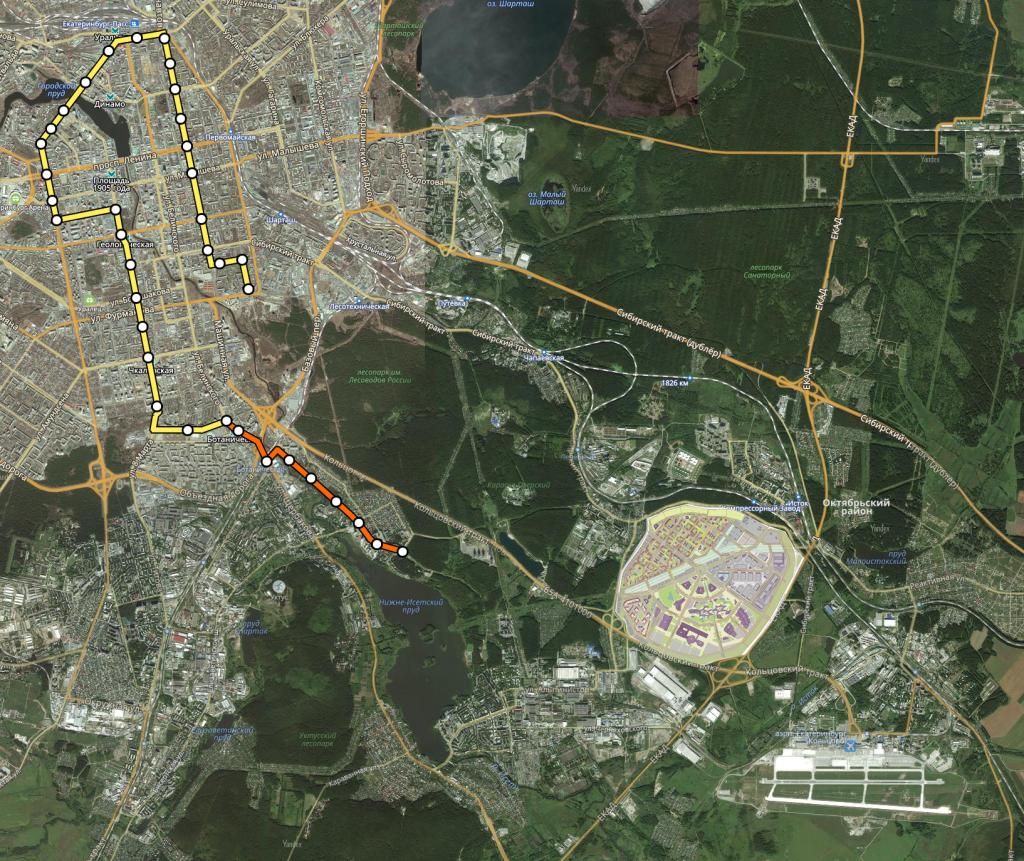 1 очередь строительства новой трамвайной линии с конечной в Сосновом Бору