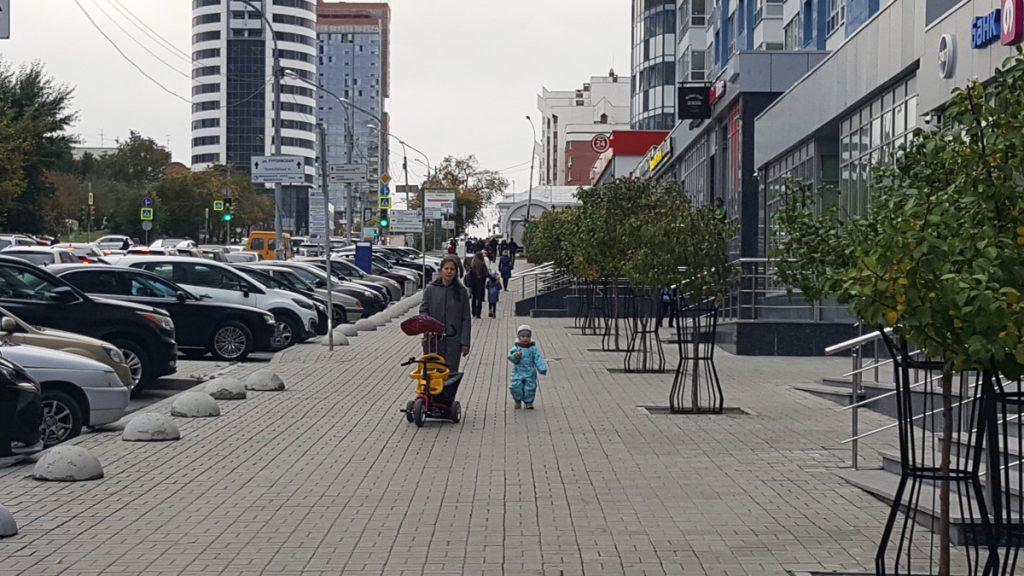 Тротуар на улице Куйбышева