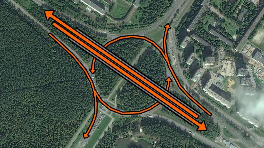 После завершения строительства развязки основной трафик Объездной дороги пойдет через путепровод.