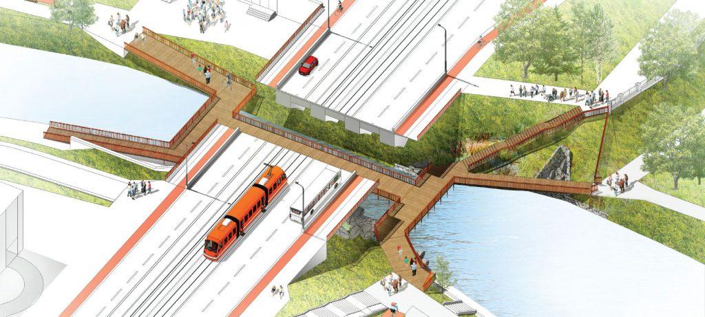 """Мост под мостом в проекте архитектурного бюро """"Оса"""""""