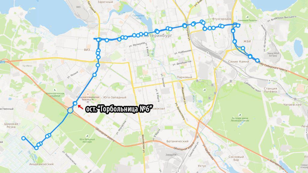 Автобусный маршрут №40 будет основным общественным транспортом из Академического до строительства трамвая.