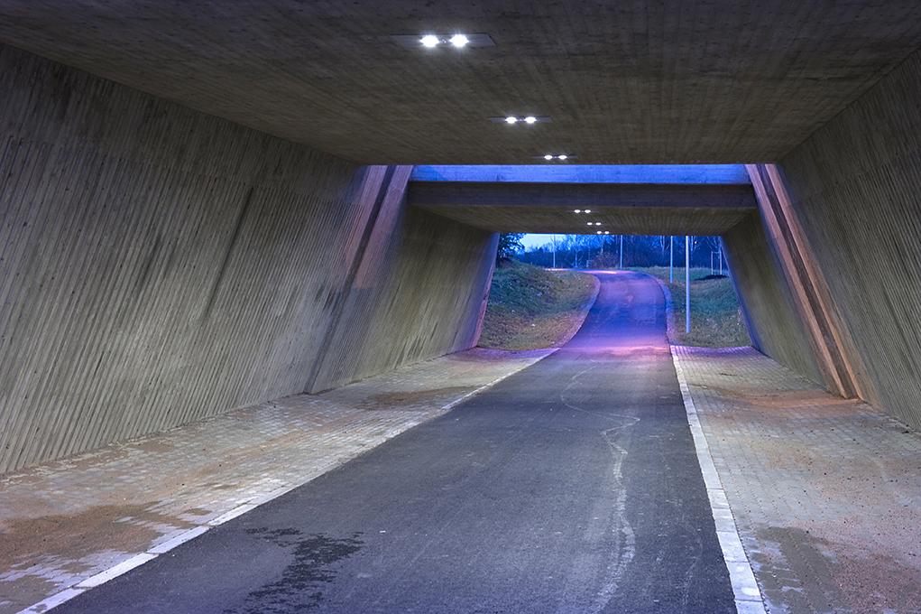 Велопешеходный тоннель с пологими пандусами