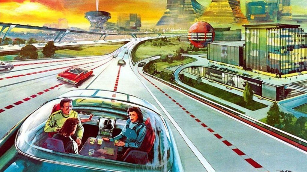 Мечта футуристов: беспилотные автомобили и города, построенные для них.
