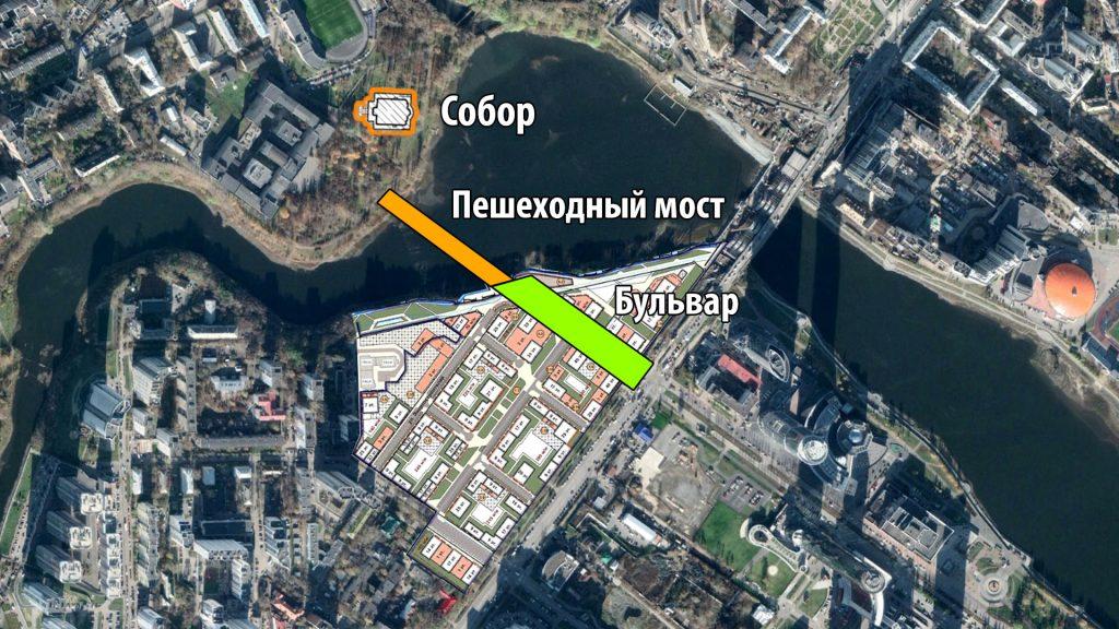 Продоление улицы Ельцина до Исети и УрГУПС