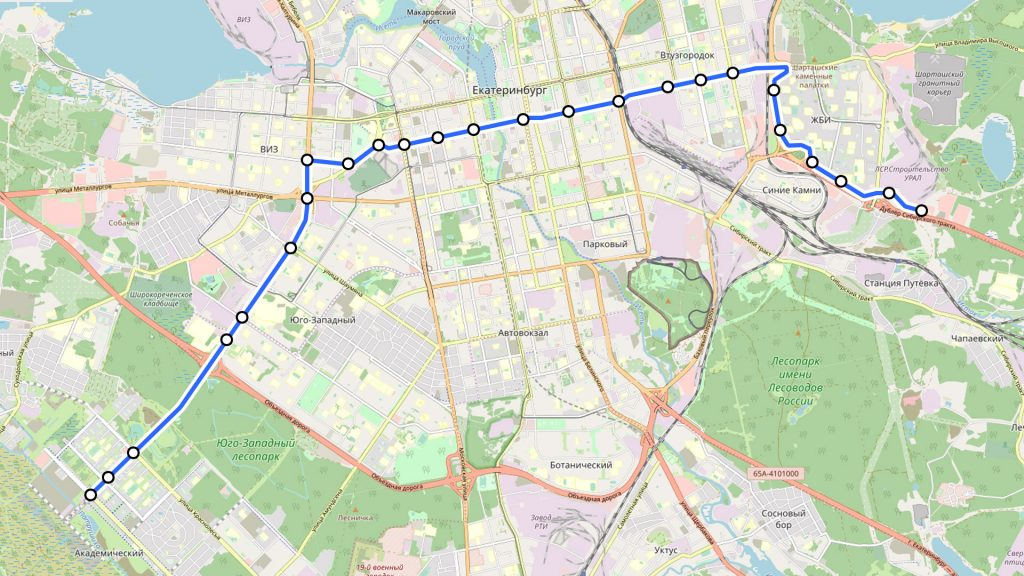 В новой маршрутной сети предусмотрен автобусный маршрут, который сможет задействовать автобусный коридор по Серафимы Дерябиной.