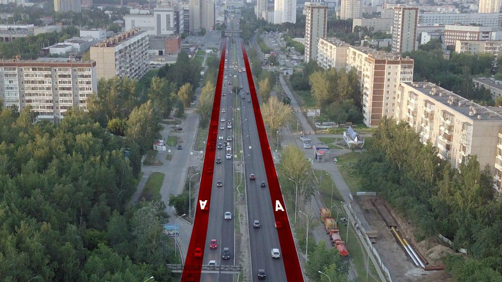 Устройство выделенных полос на улице Серафимы Дерябиной - необходимость. Однако в текущей ситуации их ввод оставит для остального транспорта по две полосы движения в каждую сторону.