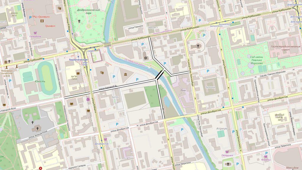 Вокруг Ледовой арены вполне возможно развитие отсутствующих участков сетки улиц