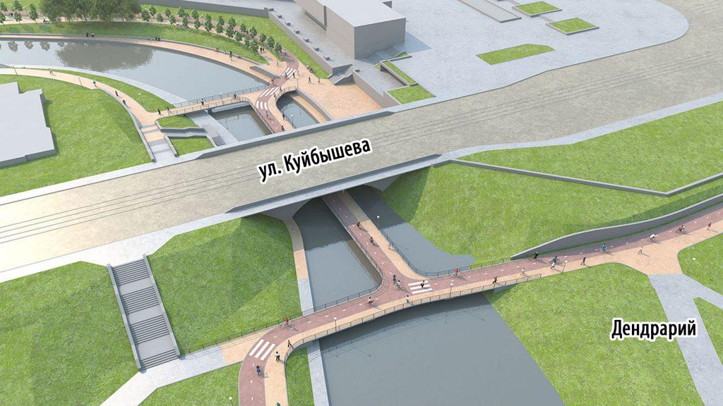 Мост под мостом в проекте бюро LATOON