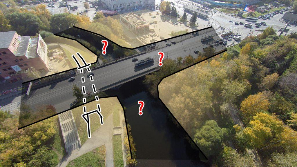 Тоннель решает проблему связи между двумя из четырех фрагментов общественного пространства