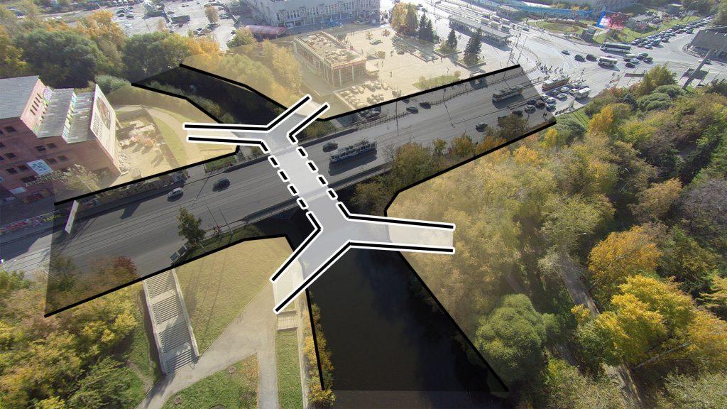 Мост под мостом позволит соединить все четыре участка набережной удобными связями