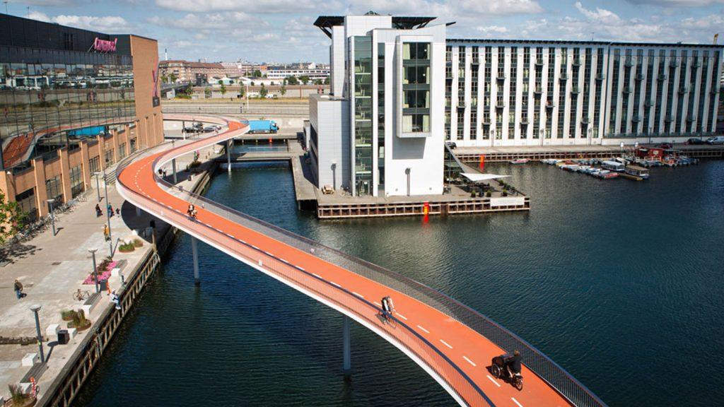 Велосипедный мост в Копенгагене