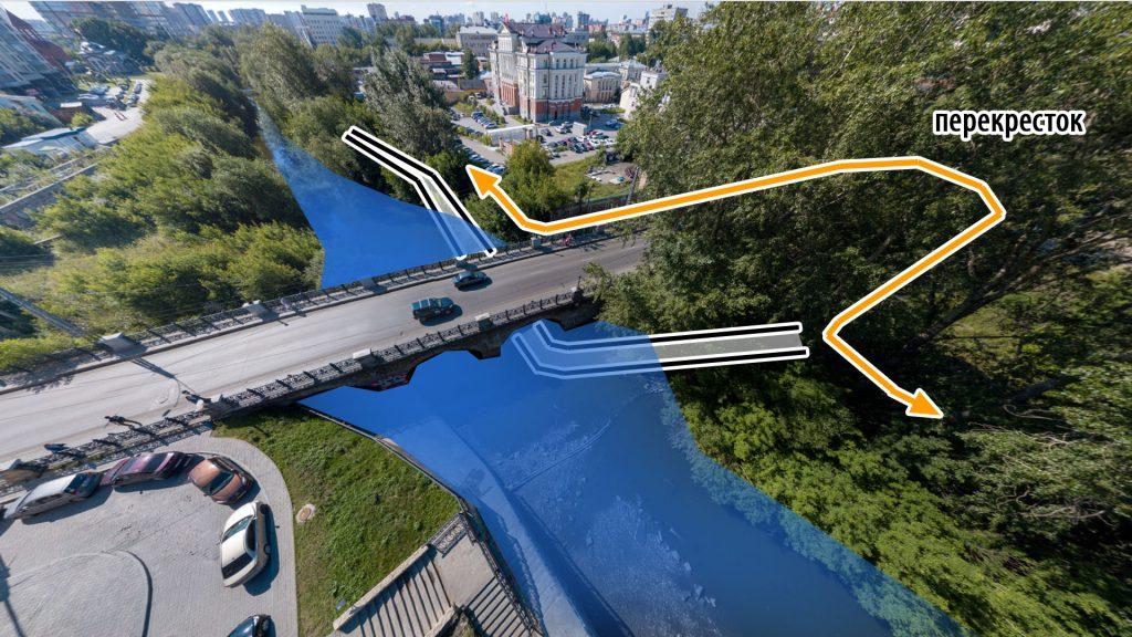 При подтоплении моста можно будет обойти его через ближайший перекресток