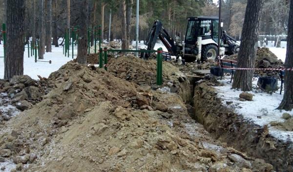 Зимой 2014 года при устройстве освещения были прорыты траншеи. Многие деревья пострадали. Сейчас все должно повториться ради бесполезных стелл.