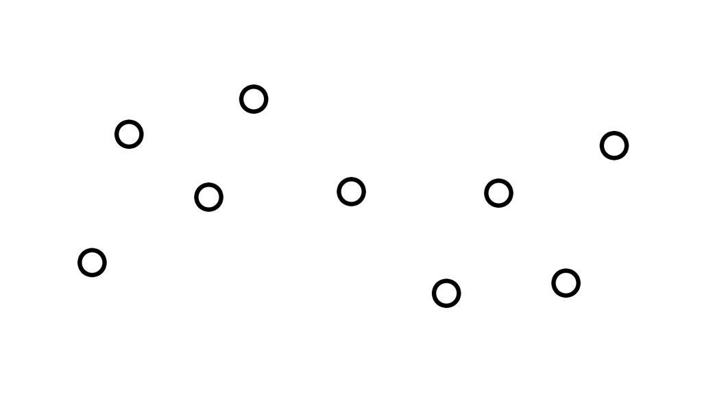 Попробуем соединить 9 центров притяжения в более сложной конфигурации