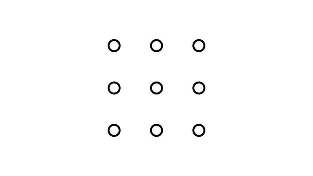 Квадрат 3х3 - оптимальное расположение 9 центров притяжения