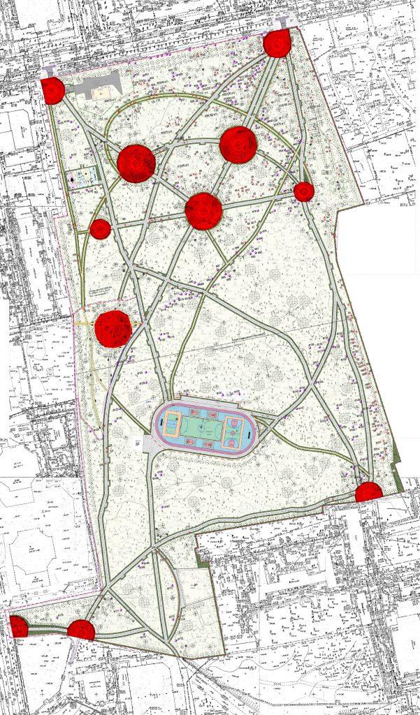 Круглые площадки в Зеленой Роще